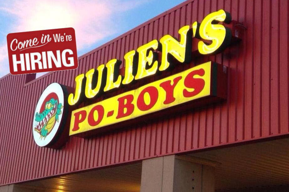 Juliens Poboys Broussard Location Menu